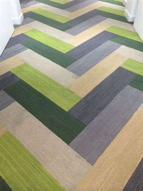 Karpet Interface herringbone carpet tile carpet vidalondon
