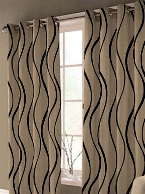 cream black curtains cream and black curtains ebay home design ideas