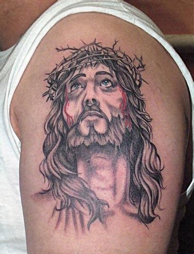 jesus thorn tattoo 50 jesus tattoos for the faith love sacrifices and strength