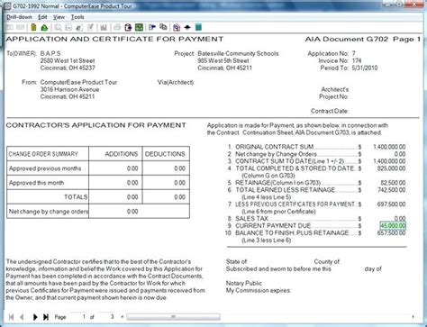 Aia Invoice Format Excel Invoice Sle Aia G702 G703 Excel Template