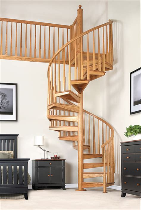 wood spiral stair thumb 1 contemporary staircase other