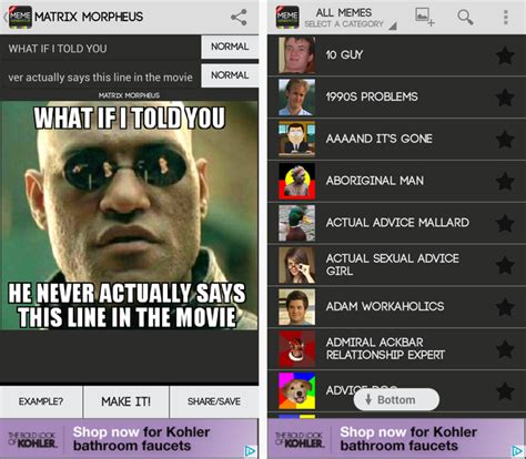 Meme Maker Free - 3 great android tools to make memes on the go
