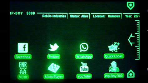 pipboy android pip boy 3000 theme for android