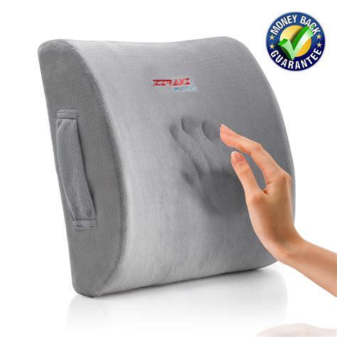Memory Foam Back Pillow by Ziraki Lumbar Support Back Cushion Pillow