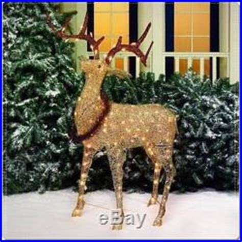 walmart decorative deer outdoor glittering elk light sculpture deer reindeer outdoor yard decor decor