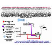WIRING DIAGRAM FOR AIR HORNS USING STOCK GROUNDED HORN