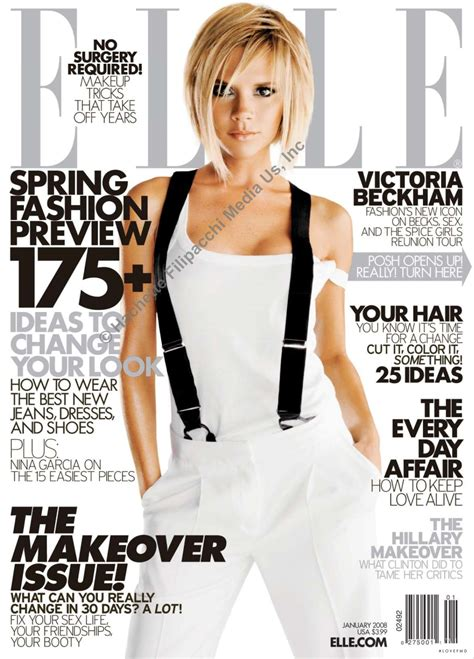 Is Elles September 2008 Cover by Cover Of Usa With Beckham January 2008 Id