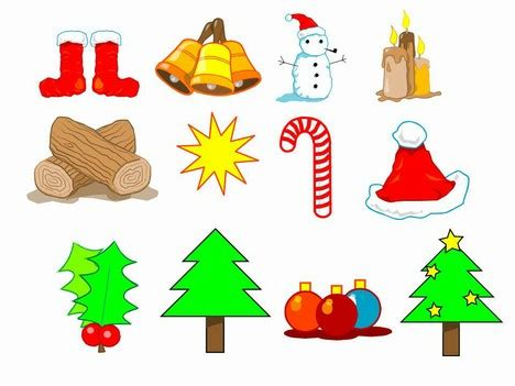 Selection of christmas clip art all in editable powerpoint format