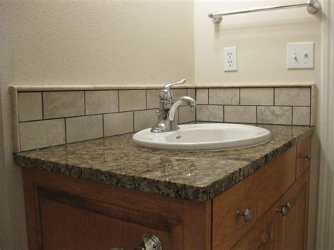 backsplash tile ideas for bathroom bathroom sink backsplash ideas city gate road