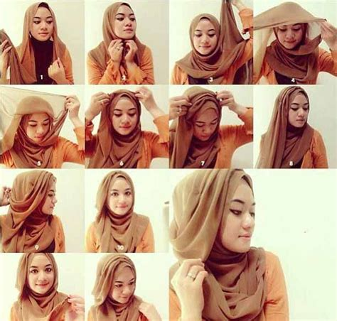 tutorial jilbab wisuda menutupi dada 11 tutorial hijab menutup dada sopan anggun dan tetap