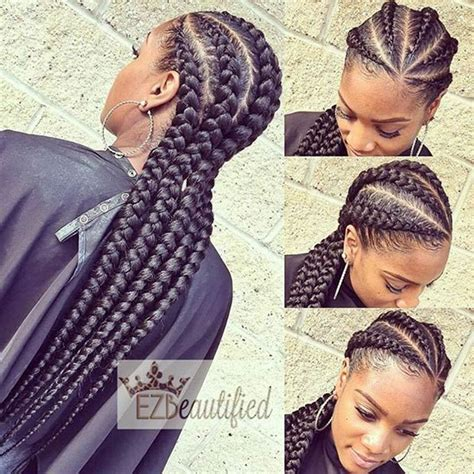 Big Braids Hairstyle by 25 Best Ideas About Big Cornrows On Black