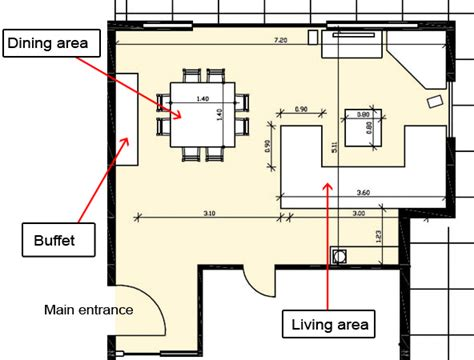 How to arrange the living and dining area?