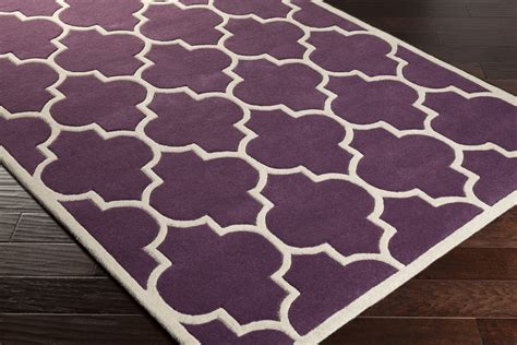 Purple And White Rug by Artistic Weavers Transit Piper Awhe2016 Purple White Area Rug