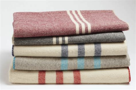 Striped Wool Blanket / Duvet , Blankets and Coverlets