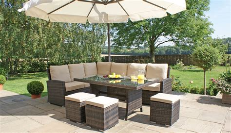 rattan garden sofa sets garden bench and seat pads outdoor