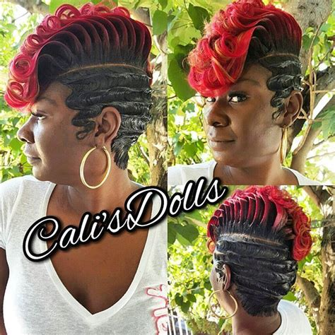 27 peice with pin curls quickweave scstylist fingerwaves sexy fierce