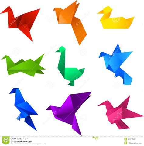Origami Birds For - origami birds stock illustration illustration of images
