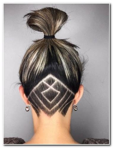 woman back of head haircut shaved back of head hairstyles for women new hairstyle