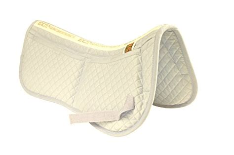Equine Comfort Products by Ecp Cotton Correction Half Saddle Pad Memory Foam