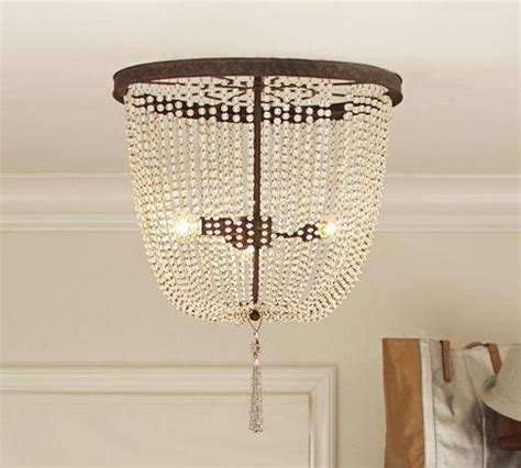 Beaded Flush Mount Look 4 Less And Steals And Deals Margeaux Ceiling Mount Chandelier