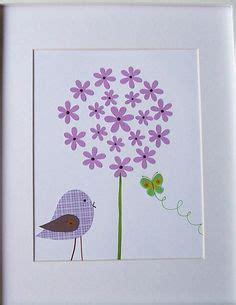 baby room kunst ideen malen mit kindern eine bunte blumenwiese basteln