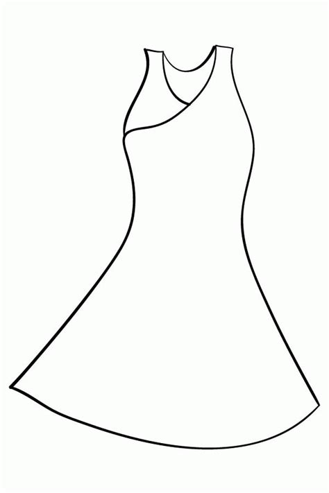 Coloring Page Dress by Coloring Pages Dress Coloring Home