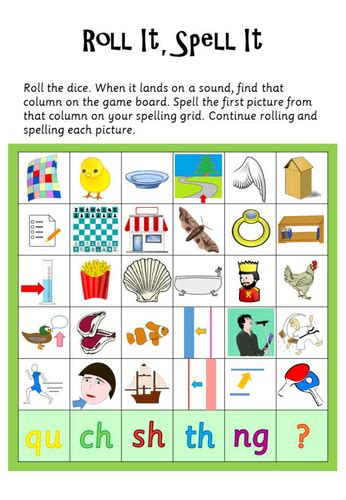 printable phonics games year 1 phase 3 roll it spell it by launderhill uk teaching