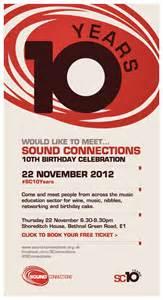sound connections 10th birthday invitation