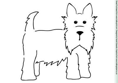 template for a phlet black and white scottie who i am who i want to be