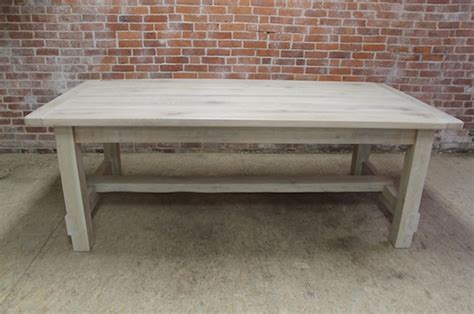 Whitewashed Coffee And End Tables White Washed Farm Table With Stretcher Lake And Mountain Home