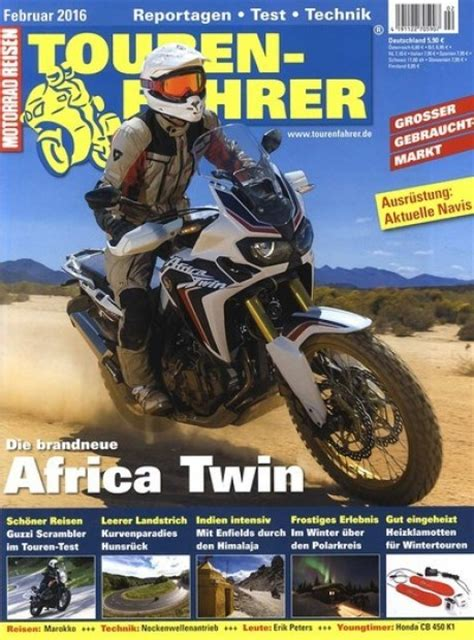 Motorradreisen Zeitschrift by Tourenfahrer Im Abo Zeitschriften Mit Pr 228 Mien