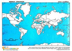 World Political Outline Map Free by Science Projects World Political Map Free