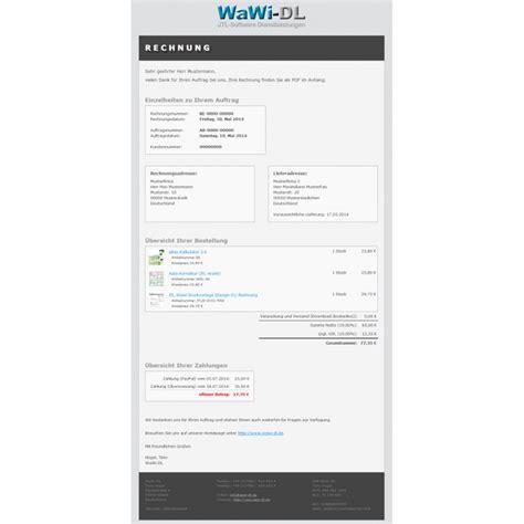 Design Rechnung Vorlage Jtl Wawi Email Vorlagen Html Design 01 Wawi Dl 10 00