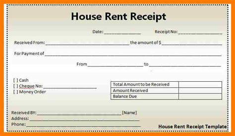 6 rental receipt template excel park attendant