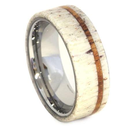 15 collection of deer antler wedding bands