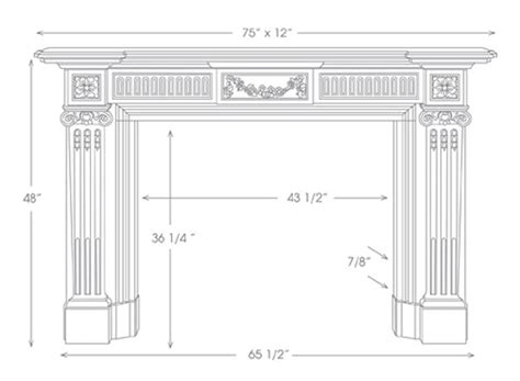 english marble fireplace mantels the federal hm146
