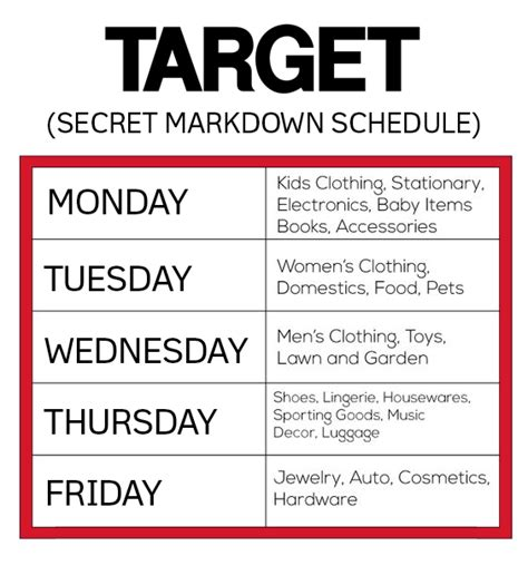 5 target shopping hacks guaranteed to save you money secret markdown schedule for saving money at target mom