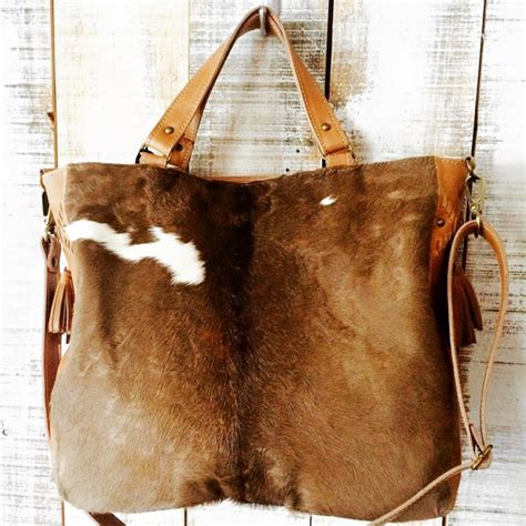 Cowhide Bags Cow Hide Purse Leather Bag Brown Cowhide Bag Crossbody By