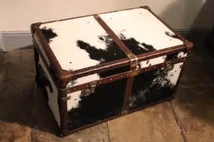 Cowhide Coffee Table Bespoke Cowhide Trunk Coffee Table Trunks Leather Crocodile Canvas Metal