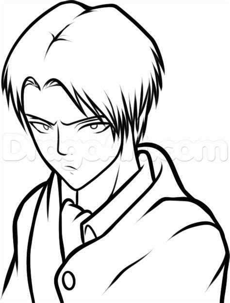 how to an attack how to draw levi from attack on titan step by step anime characters anime draw