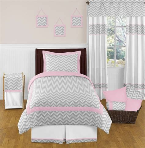 Zig Zag Bedroom Ideas Pink And Gray Chevron Childrens And Bedding 4pc