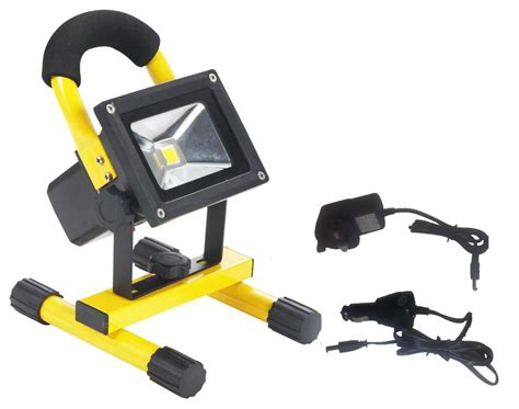 battery led work light 10w rechargeable led flood light portable battery powered