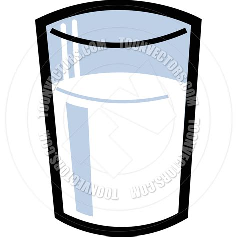 glass cartoon cartoon glass of milk vector illustration by clip art guy