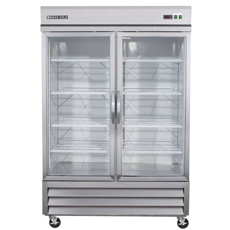 Glass Door Commercial Refrigerator Shop Maxx Cold 48 Cu Ft 2 Door Freezerless Freezerless