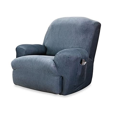 navy slipcovers buy sure fit 174 stretch stripe recliner slipcover in navy