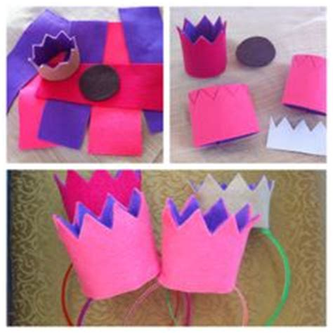 How To Make A Crown Out Of Construction Paper - make your own tiara headband would be great for a