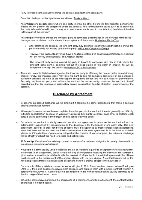 Vs Letter Of Agreement Study Notes Contract