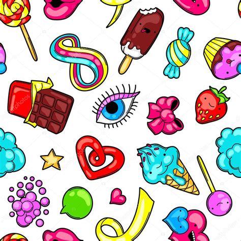 imagenes de bombones kawaii patr 243 n transparente kawaii con dulces y caramelos dulce