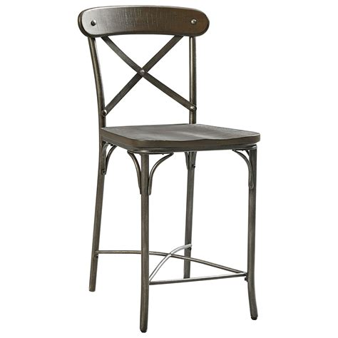 industrial metal bar stools with backs standard furniture montvale industrial metal x back stool