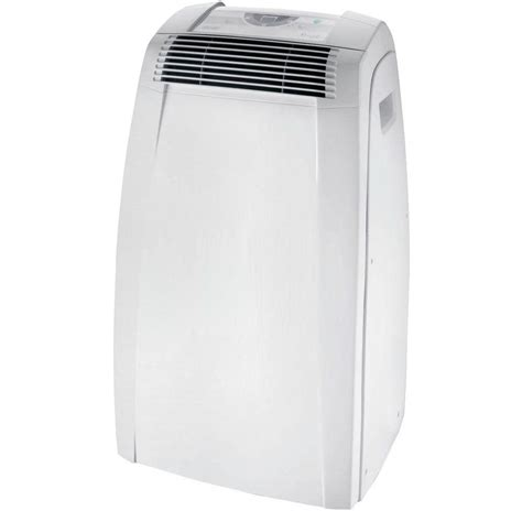 delonghi pinguino portable air conditioner with remote control pacan125hpec delonghi pinguino c 12 000 btu 115 volt portable